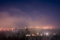 Chateau de Montrottier dans la brume