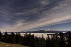 Annecy sous une mer de nuages depuis le Semnoz