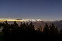 Panorama : Comete neowise à Annecy depuis le Semnoz