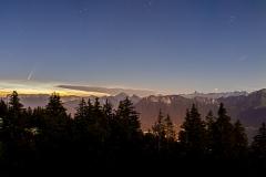 Comète Neowise au-dessus d'Annecy