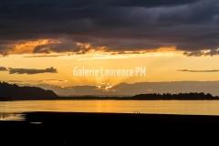 Coucher de soleil sur la rivière Columbia