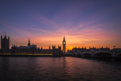 Coucher de soleil à Londres