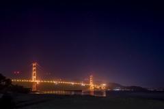 Golden Gate Bridge et la Grande Ourse