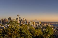 Coucher de soleil à Seattle