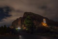 la chapelle Holy Cross by night